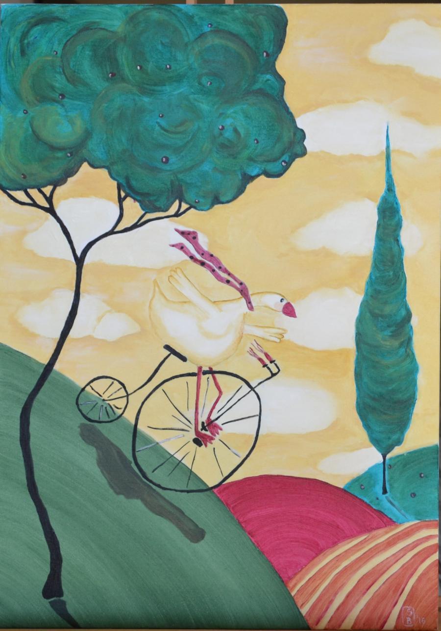 Picturi cu animale Libertate pe roti