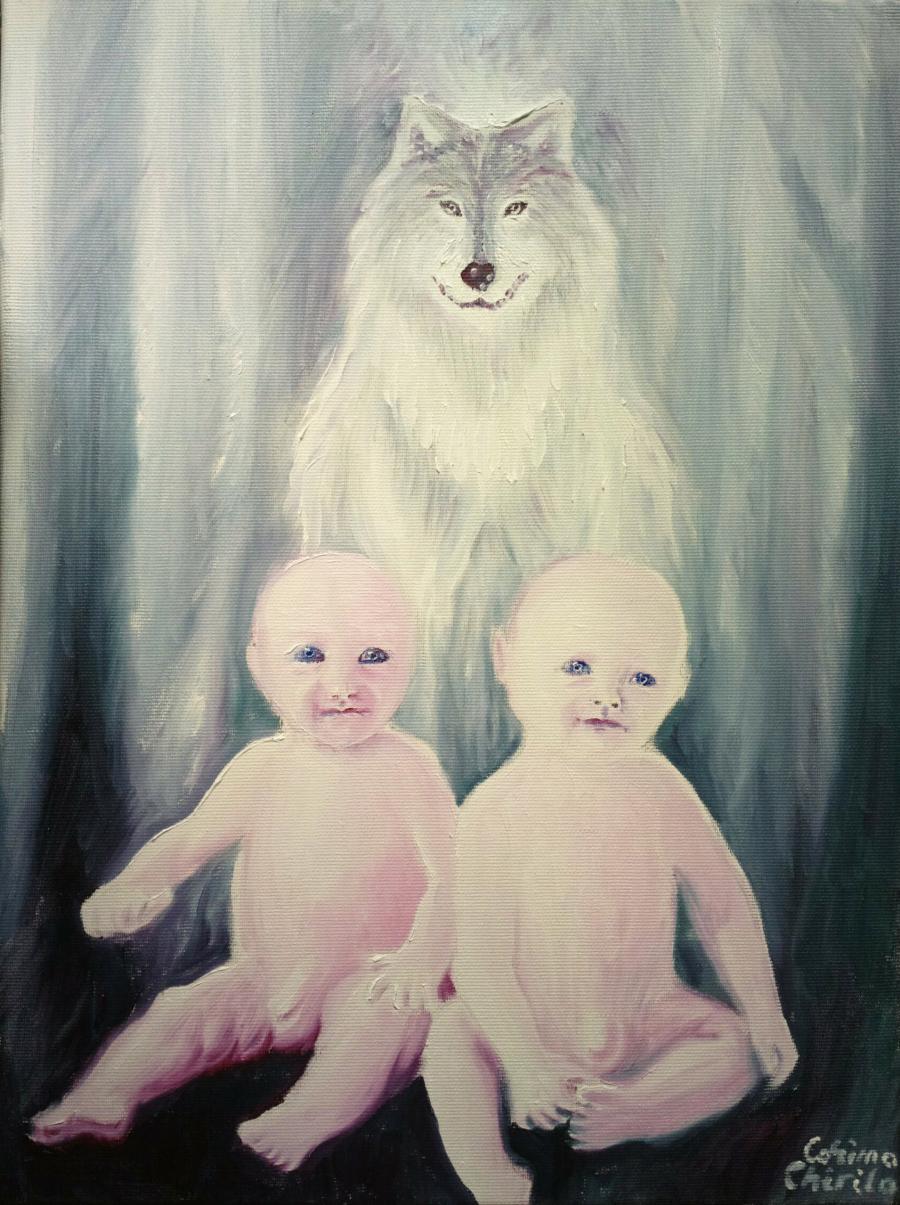Picturi cu animale Romulus si remus