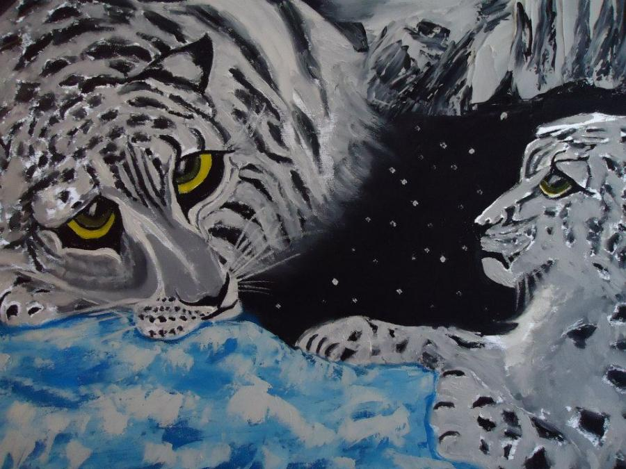 Picturi cu animale tigrii familie cod 0081