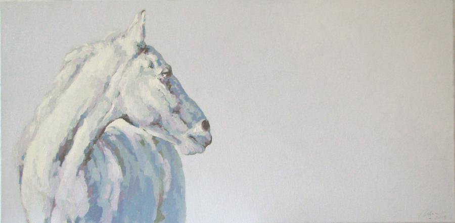 Picturi cu animale alb