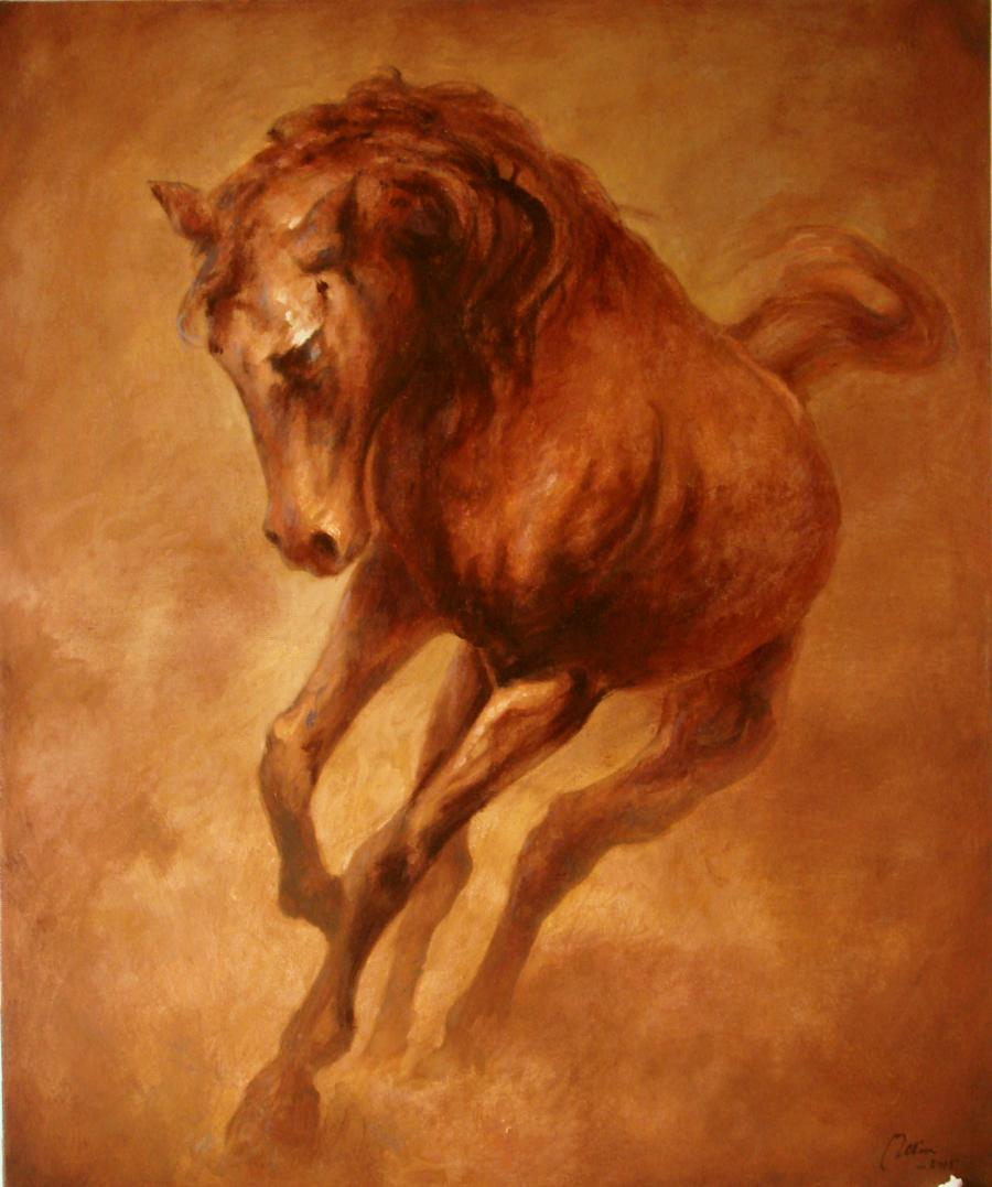 Picturi cu animale Cal in alergare