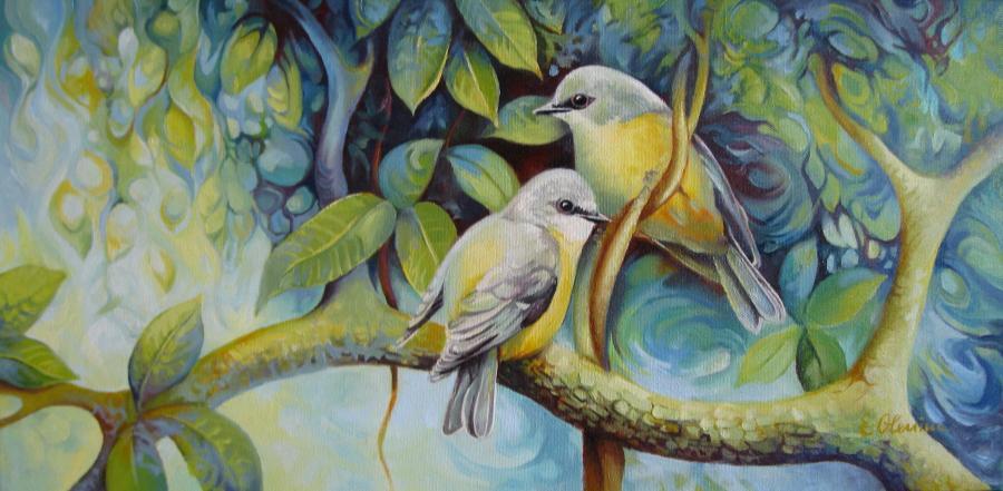 Picturi cu animale Birds