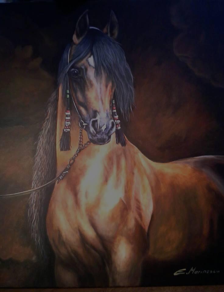 Picturi cu animale Cal cu plete