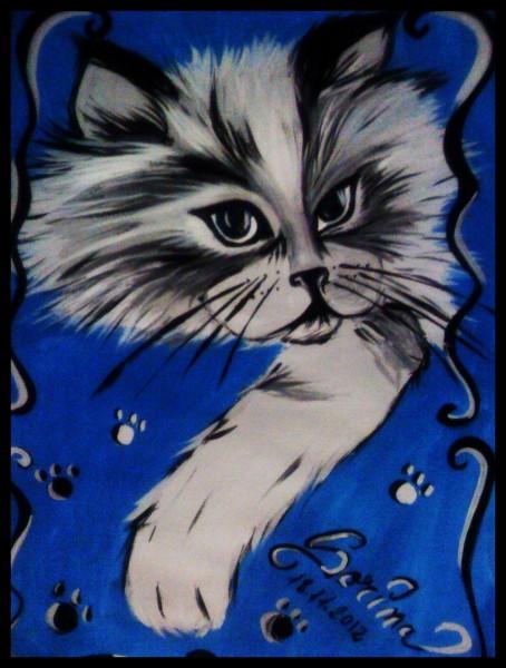 Picturi cu animale Motanel