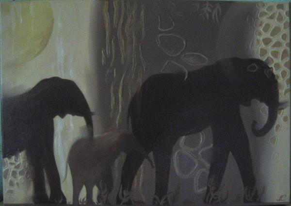 Picturi cu animale Elefanti