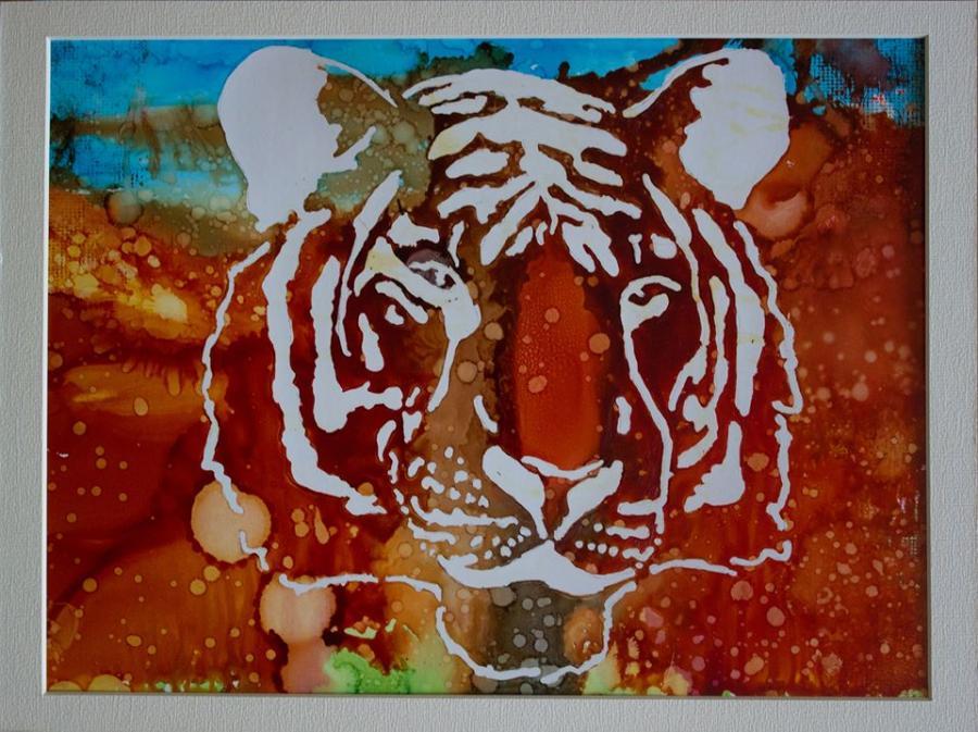 Picturi acuarela Tigru 2