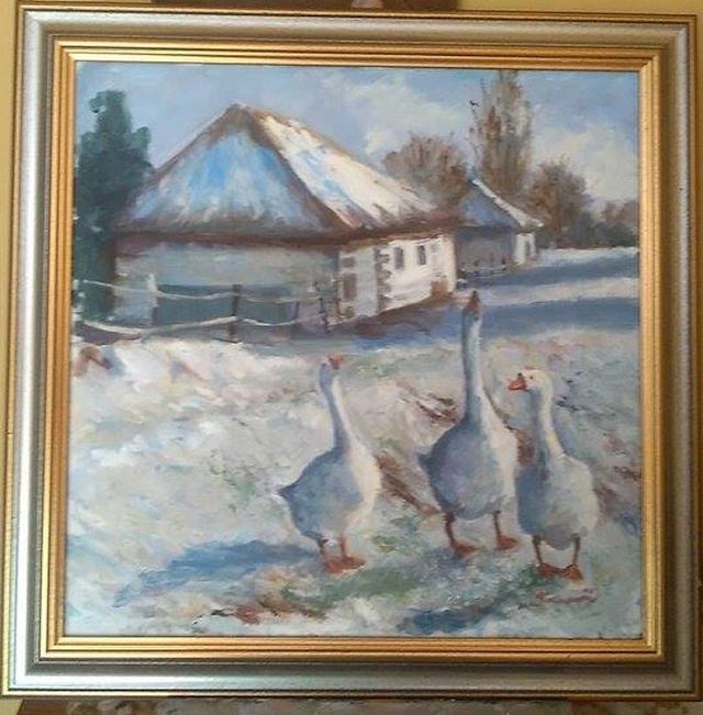 Picturi cu animale Gasculite in plimbare