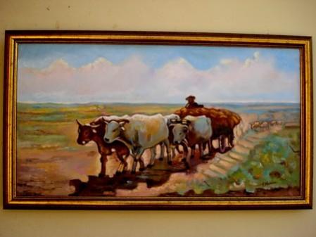 Picturi cu animale Carul cu boi