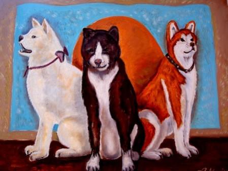 Picturi cu animale Tablou akita inu