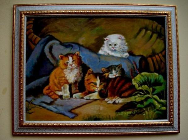 Picturi cu animale Tablou patru motani