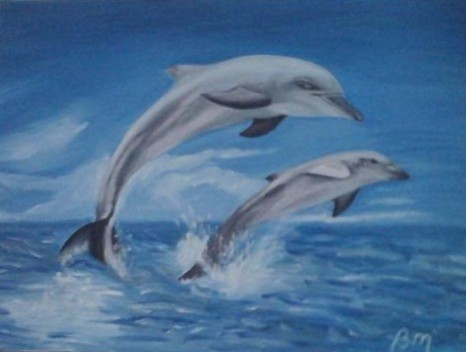 Picturi cu animale Delfini