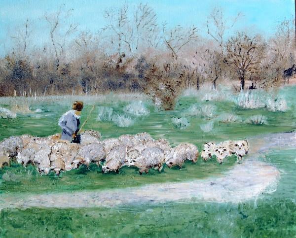 Picturi cu animale Cibanas cu oi