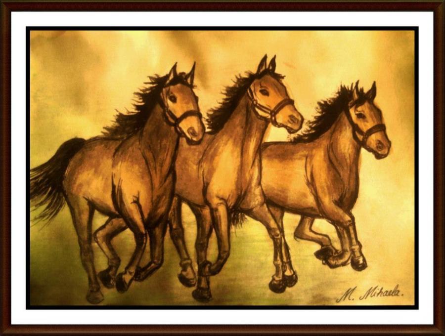 Picturi cu animale Cai 2