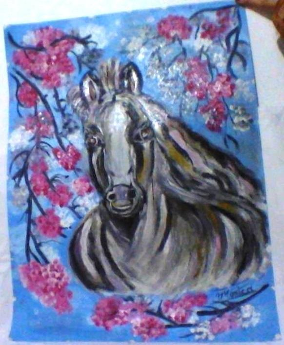 Picturi cu animale calutul din vis