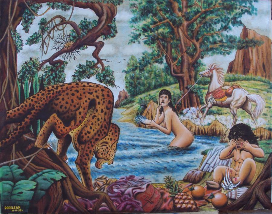 Picturi cu animale Incident