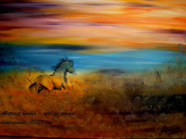 Picturi cu animale Abstract horses