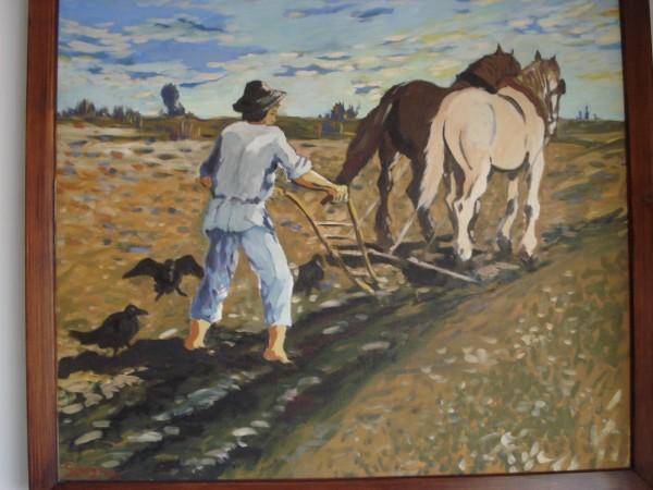 Picturi cu animale La arat