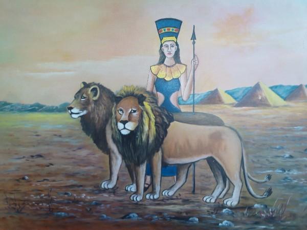 Picturi cu animale Leii