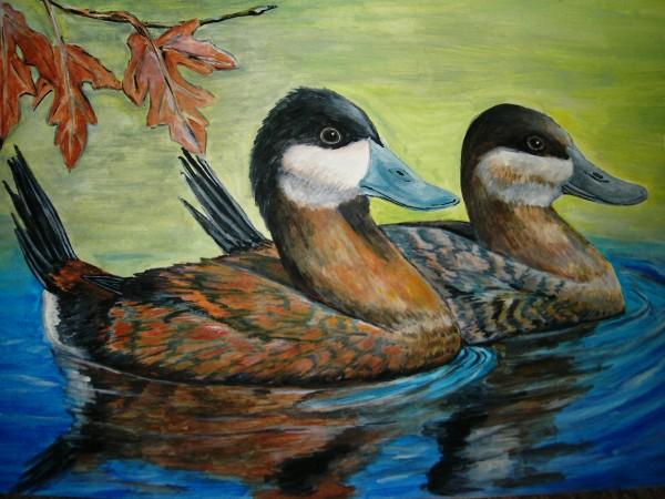 Picturi cu animale Pe lac 3