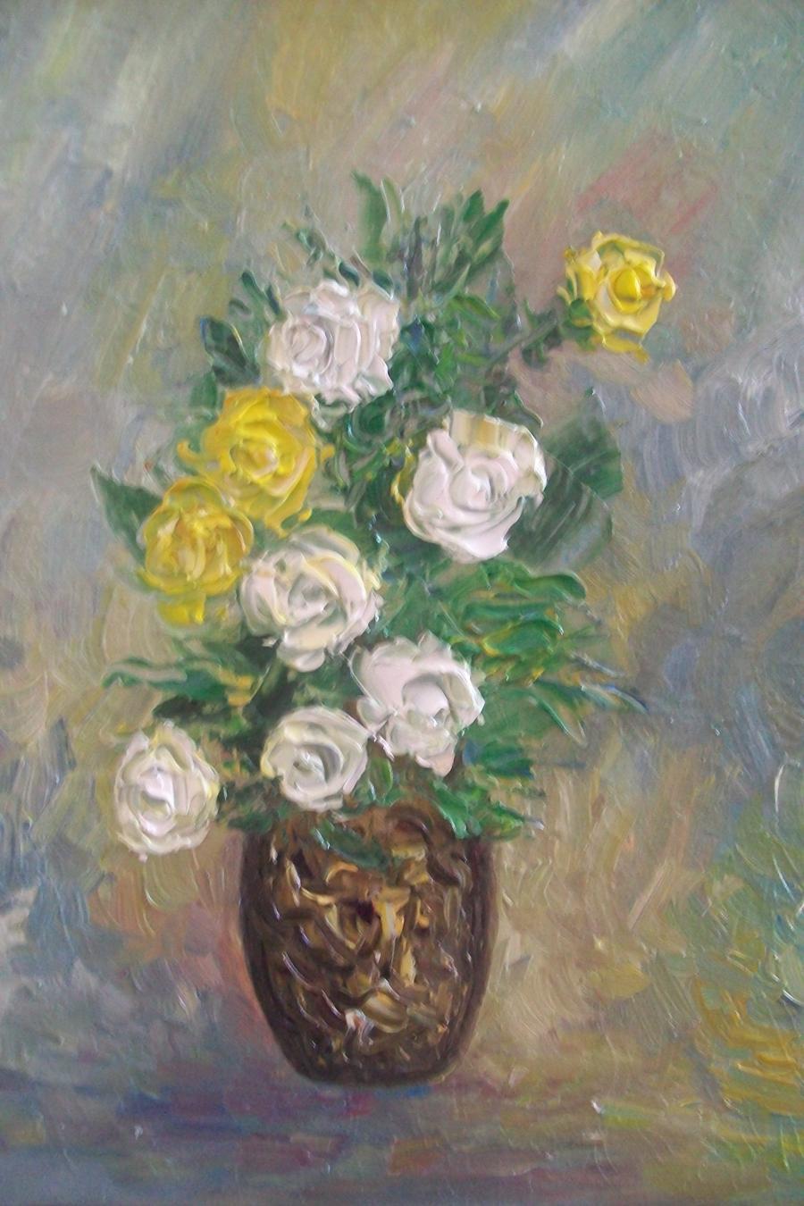 Picturi cu flori Putina fantezie