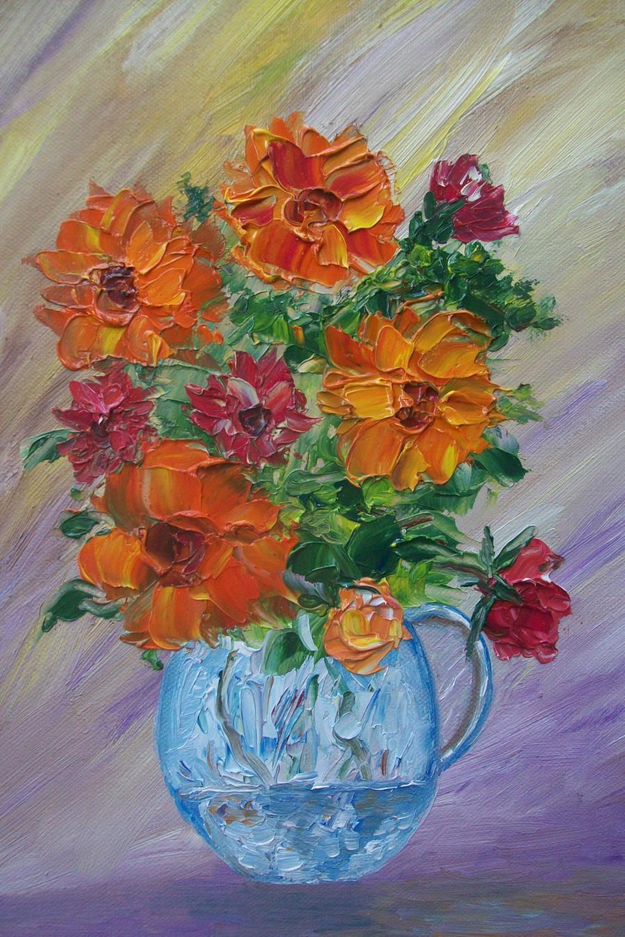 Picturi cu flori Statica cu flori de toamna