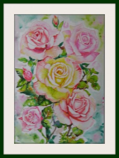 Picturi cu flori Romanta rozelor