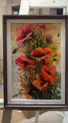Picturi cu flori maci salbatici 30