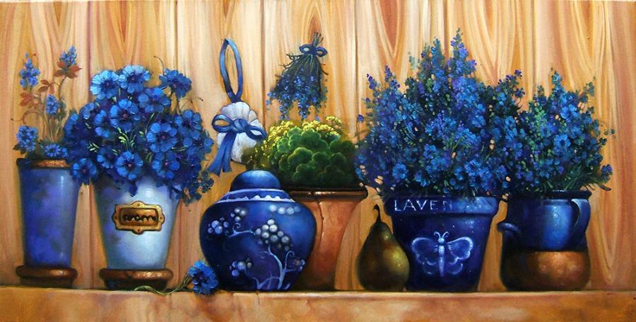 Picturi cu flori natura statica cu lavanda