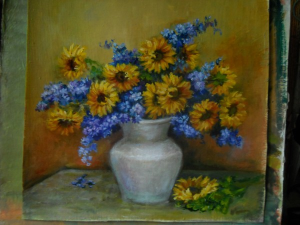 Picturi cu flori  galbenele