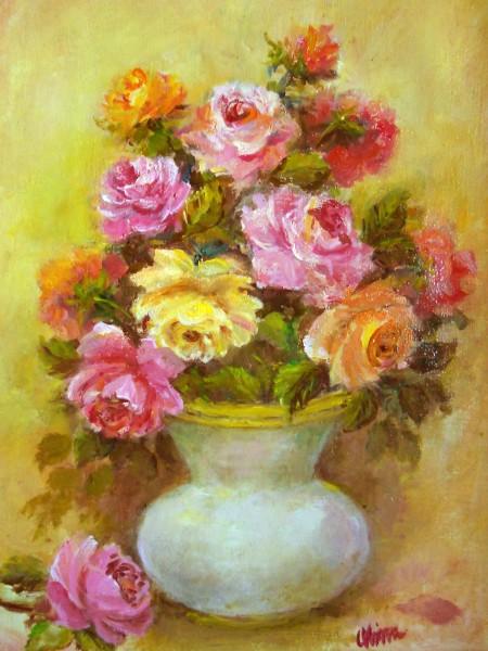 Picturi cu flori Pastel