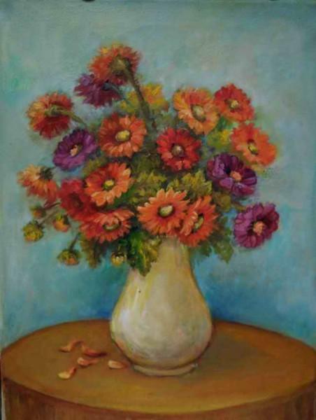 Picturi cu flori Policrom