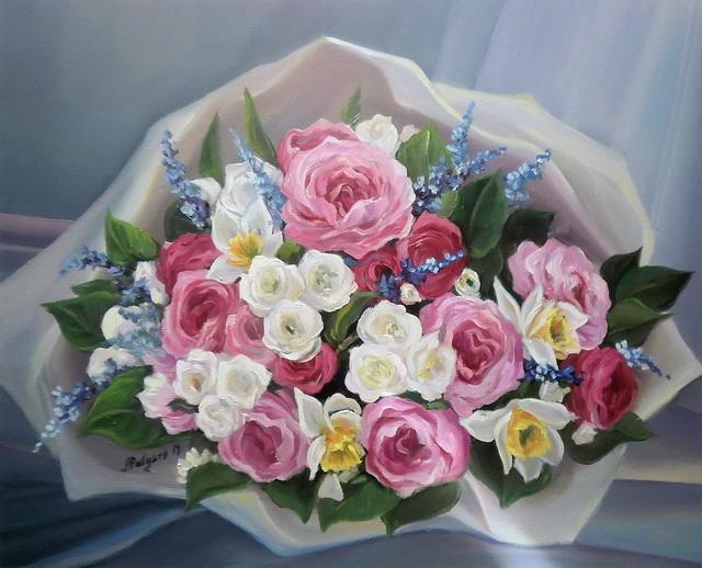 Picturi cu flori BUCHET CU FLORI  DE PRIMAVARA