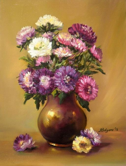 Picturi cu flori BUCHETUL  TOAMNEI