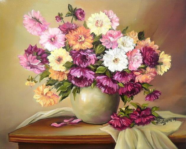 Picturi cu flori DALII (2)