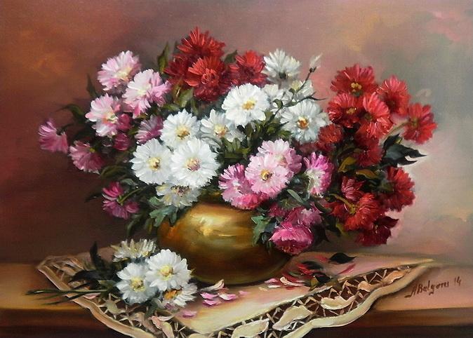 Picturi cu flori DUMITRITE IN DAR