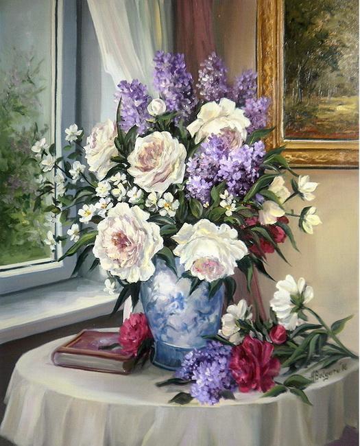 Picturi cu flori FLORI DE BUNA VESTIRE