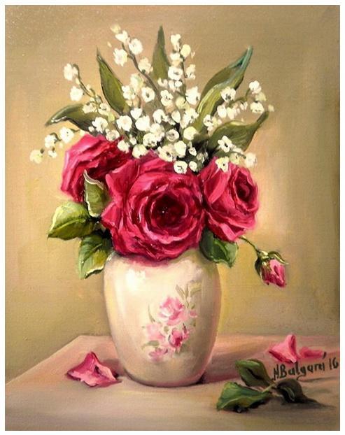 Picturi cu flori FLORI DE DOR