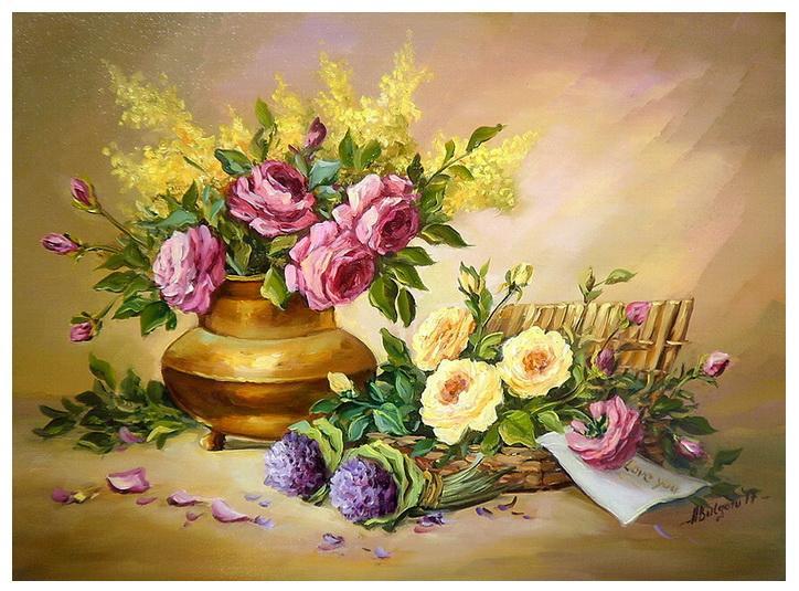Picturi cu flori FLORILE IUBIRII (2)