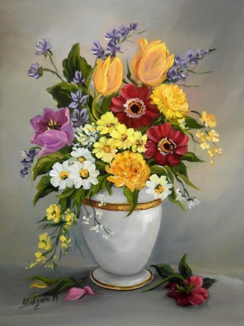 Picturi cu flori FLORILE  PRIMAVERII