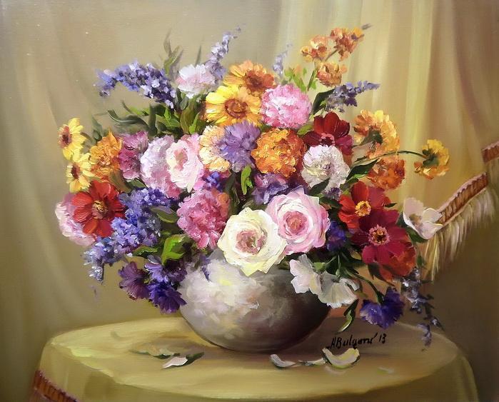 Picturi cu flori Frumoasele verii