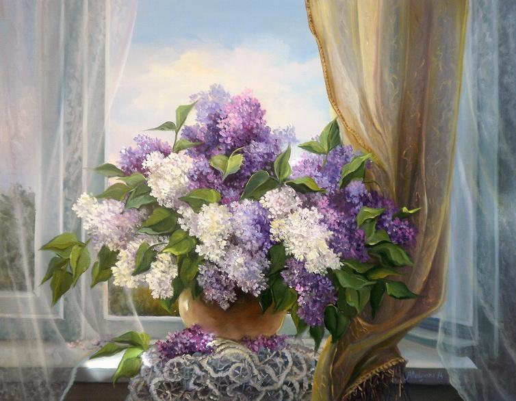 Picturi cu flori IN ADIEREA PRIMAVERII