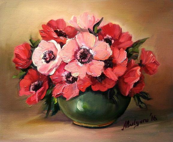Picturi cu flori MARTISOR CU ANEMONE (4)