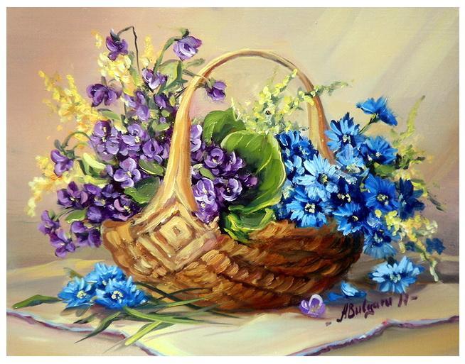Picturi cu flori MARTISOR DE PRIMAVARA (2)