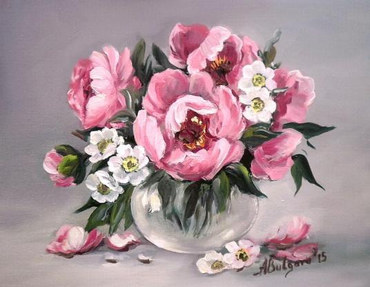 Picturi cu flori MARTISOR IMBUJORAT