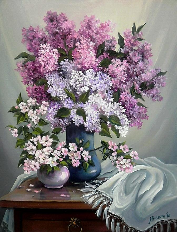 Picturi cu flori PARFUM DE PRIMAVARA