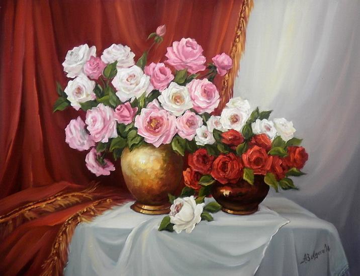 Picturi cu flori PARFUM DE ROZE (2)