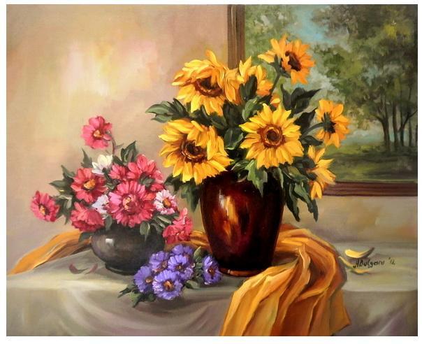 Picturi cu flori PARFUM DE TOAMNA AURIE
