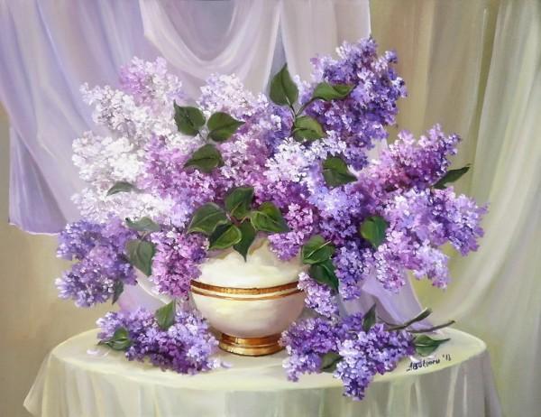 Picturi cu flori Parfum violet