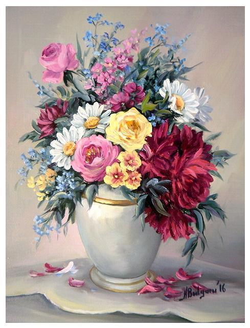 Picturi cu flori PETALE DE VARA (2)