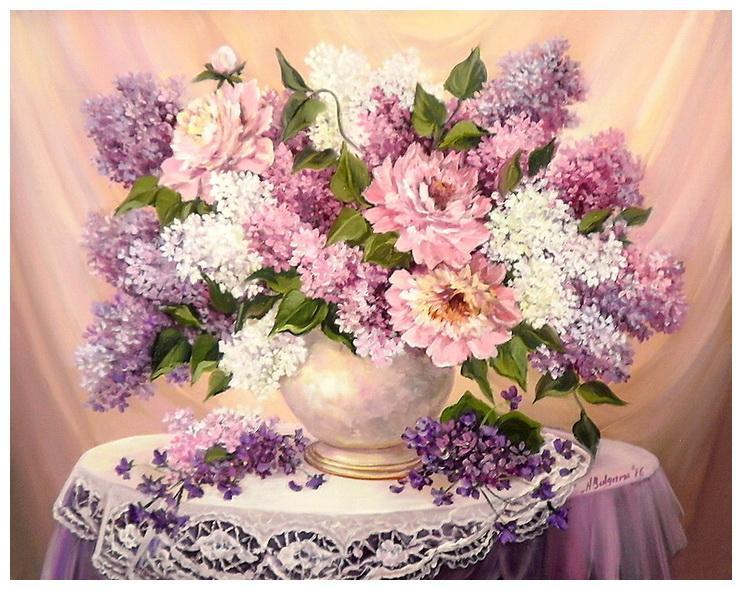 Picturi cu flori POEM PRIMAVERII (2)